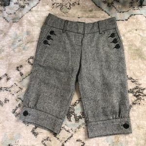 Anthro Tweed Herringbone Retro Newsboy  Shorts